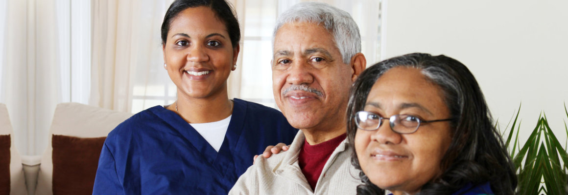 caregiver coaching her patient